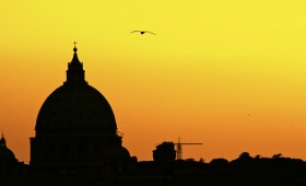 Silhouette Sunset In Rome